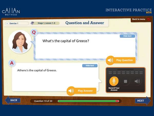 Question and Answer exercise